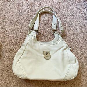 White Calvin Klein Leather Bag